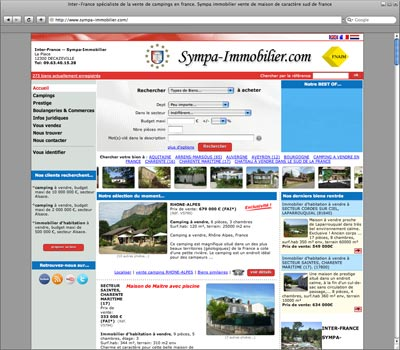 website Sympa Immobilier